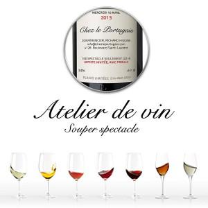 Annonce courriel – Atelier de vin
